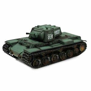 Torro 1/16 2.4ghz Rc Russian Ww Ii Kv-1 Bb Tank Métal édition Professionnelle-afficher Le Titre D'origine Facile à RéParer