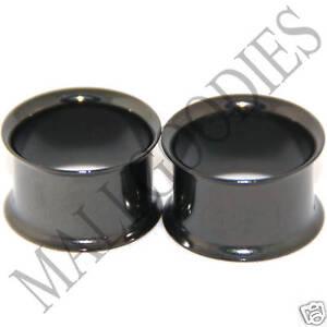 0230-Black-Double-Flare-Flesh-Tunnels-Earlets-Saddle-Gauges-3-4-034-Ear-Plugs-20mm