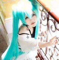 New Vocaloid Hatsune Miku Cosplay WIG + 2 Ponytails Light Blue