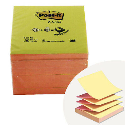 Assorted 6 Post-It 76 X 76 Mm Notes Refill Super Sticky Notes Z-Note Dispenser