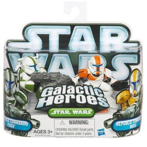 Star Wars Galactic Heroes 2010 2 Pack - Republic Commandos Fixer & Boss