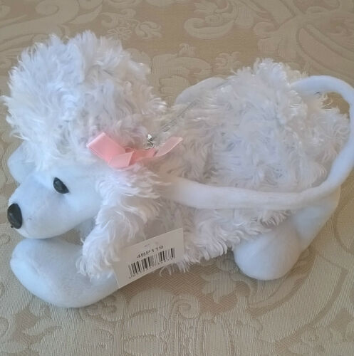choice of lilac 7 x 8 in size approx Poodle Handbag for child pink or white