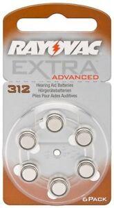 Rayovac Hörgerätebatterien Knopfzelle Extra Advanced ZA312 V312 312 AU AU312
