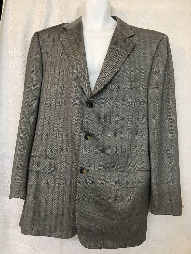 Ermenegildo Zegna grau Three Button Wool Größe 46 L