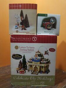 Dept 56 Letter To Santa Sorting Station Holiday Card Photo Hut Christmas Village