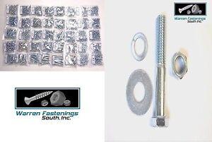 Assortment Grade 5 Hex Screw Bolt Nuts /& Washers 3220 PC kit COARSE