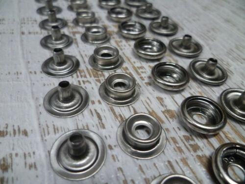 20 Sets 316 Stainless Steel Marine Grade Snap Press Stud Fasteners