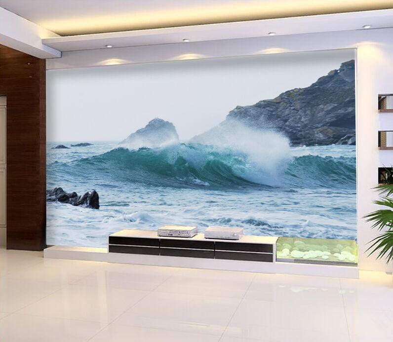 3D Sea, stones 4332 Wall Paper Print Wall Decal Deco Indoor Wall Murals