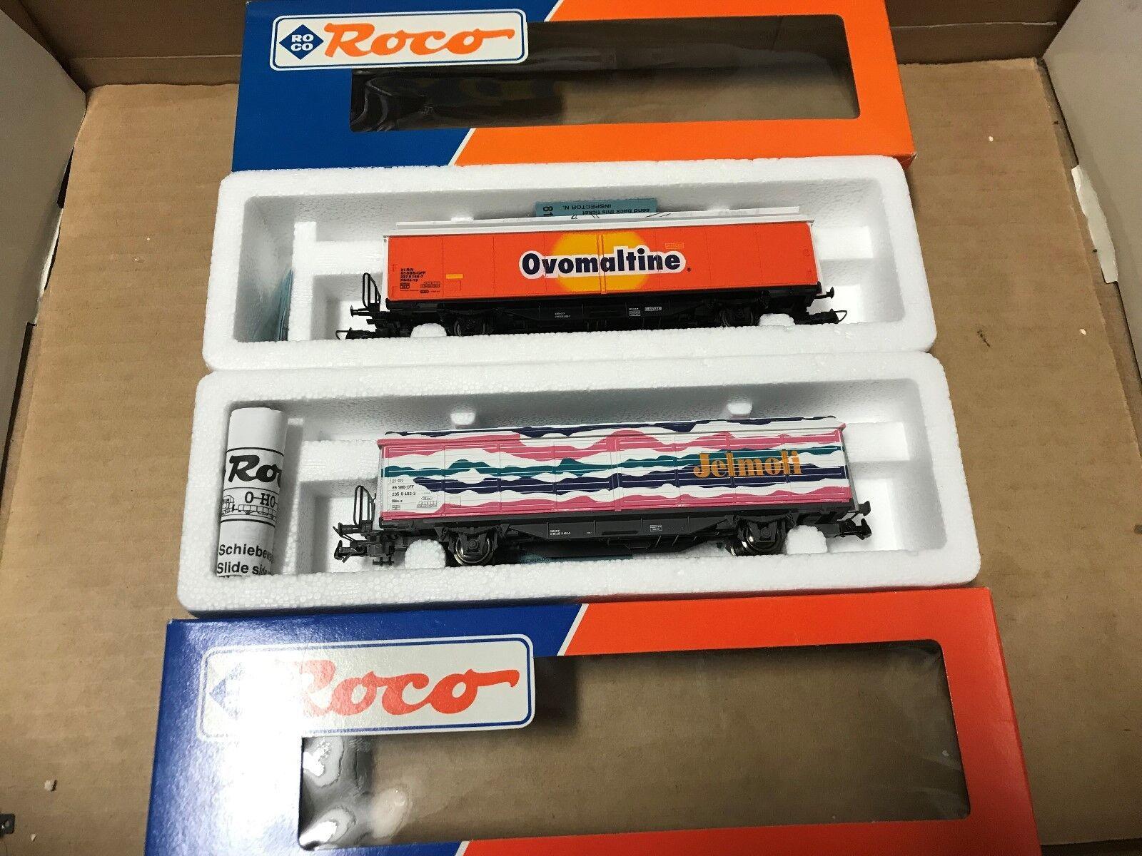 Roco H0 46593 46399  2 x geschlossene Güterwagen der SBB NEU + OVP