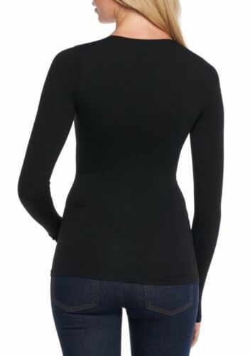 $58 Free People OB479536 Black Super Stretch Ribbed Lace-up Fitted Tee Top