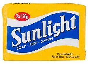 Sunlight-Traditional-Household-Laundry-Pure-Lemon-Soap-2-x-150g-Bars