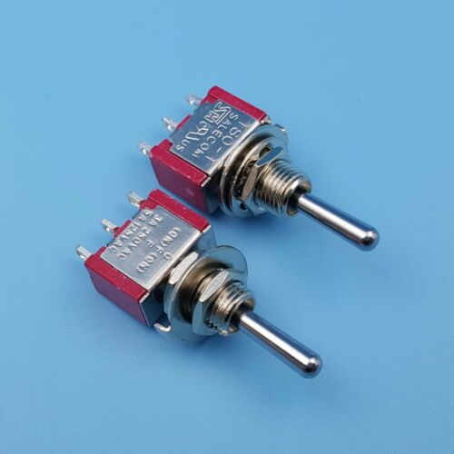 10Pcs SH T8014A 3Pin Momentary MOM-OFF-MOM SPDT Mini Toggle Switch