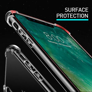 iPhone-X-6s-7-8-Plus-Case-Rugged-Edge-Series-Clear-ShockProof-Bumper-Silicone