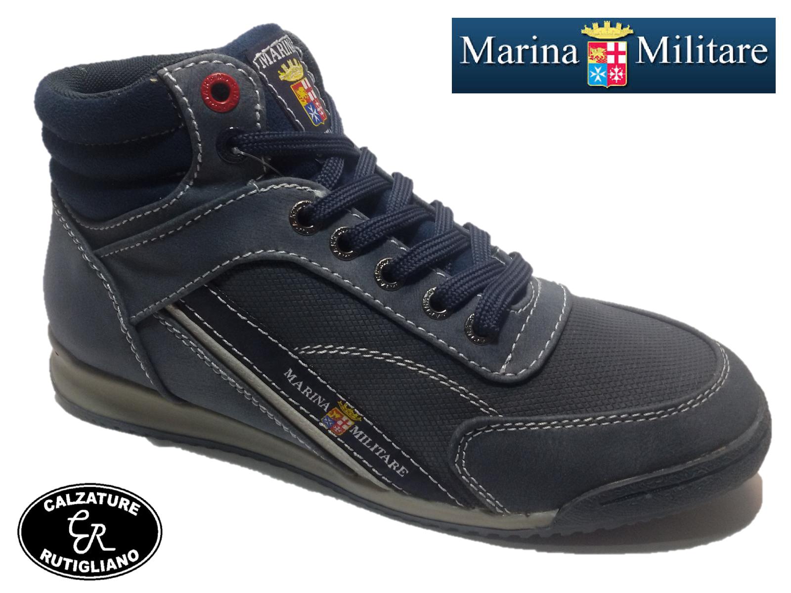 MARINA MILITARE ALTA Zapatos hombre BLU SNEAKER ALTA MILITARE SCARPONCINO LACCIO - MM1546 22b790