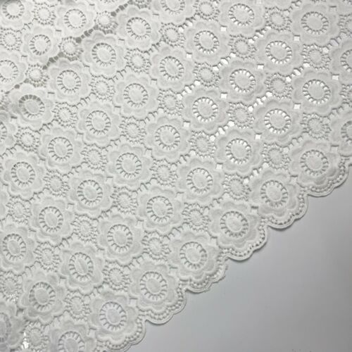 Cotton Lace Fabric African Lace Fabric White Cord Lace Embroidery Guipure Dress