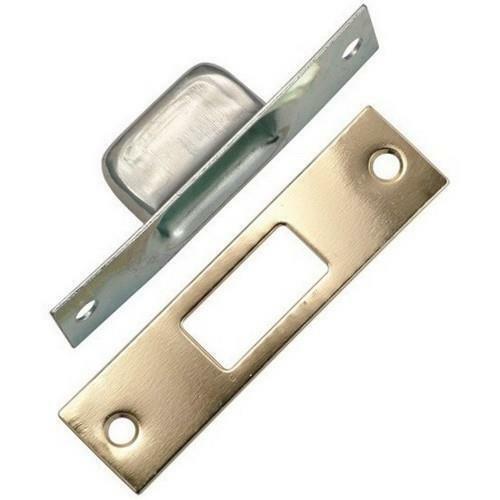 Polished Brass Warwick Door Deadbolt High Security Box and Flat Strike Plates