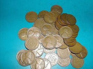 1920/'s  to 1958 Lincoln Cent Penny  roll    GOOD MIX