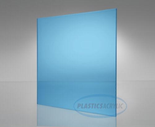 "Light-Blue Transparent Acrylic Plexiglass sheet 1//16/"" x 6/"" x 12/"" #2069"