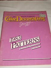 Wilton Cake Decorating Yearbook 1983 Patterns Exclusive Designs Transfer Tops