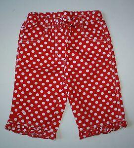 Bottoms Useful Nuovo Mini Boden A Pois Rosso Pinocchietto O Conchiglia Escavatrice Pantaloni 3 Girls' Clothing (newborn-5t)