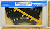 Vintage 1960's Strombecker Racing 1:32 Curved Metal Track Yellow Guard Rails