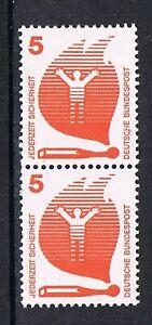 Bund-694-senkr-Paar-m-br-Ausgleichzahn-u-Nr-140-Unfallverhuetung-5-Pf