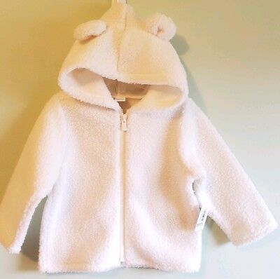 NWT Old Navy Girl Size 18-24 Months or 3t Pink Corduroy Sherpa Coat Jacket
