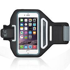 "iPhone 6/6S Plus 5.5"" Black Lycra Armband Running Reflective CreditCard Holder"