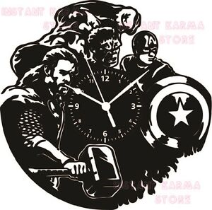 Exclusif-Horloge-Murale-Disque-Vinyle-33-tours-SUPER-HERO-THE-AVENGERS-2