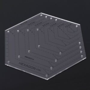 image is loading hexagon quilting ruler quilting patchwork plastic template diy