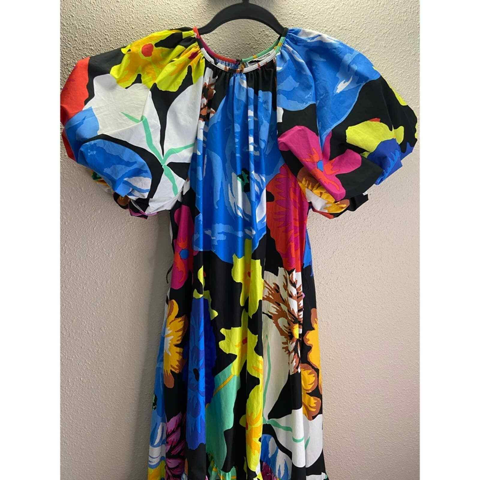 Christopher John Rogers Floral Puff Sleeves Dress - image 7