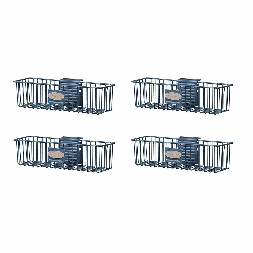 Suncast tendencias de almacenamiento Cesta de Alambre Metal Clavijas montado, azul (4 Pack)