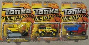 New-TONKA-METAL-DIECAST-CONSTRUCTION-Trio-Excavator-4x4-Dump-Truck-Free-Ship