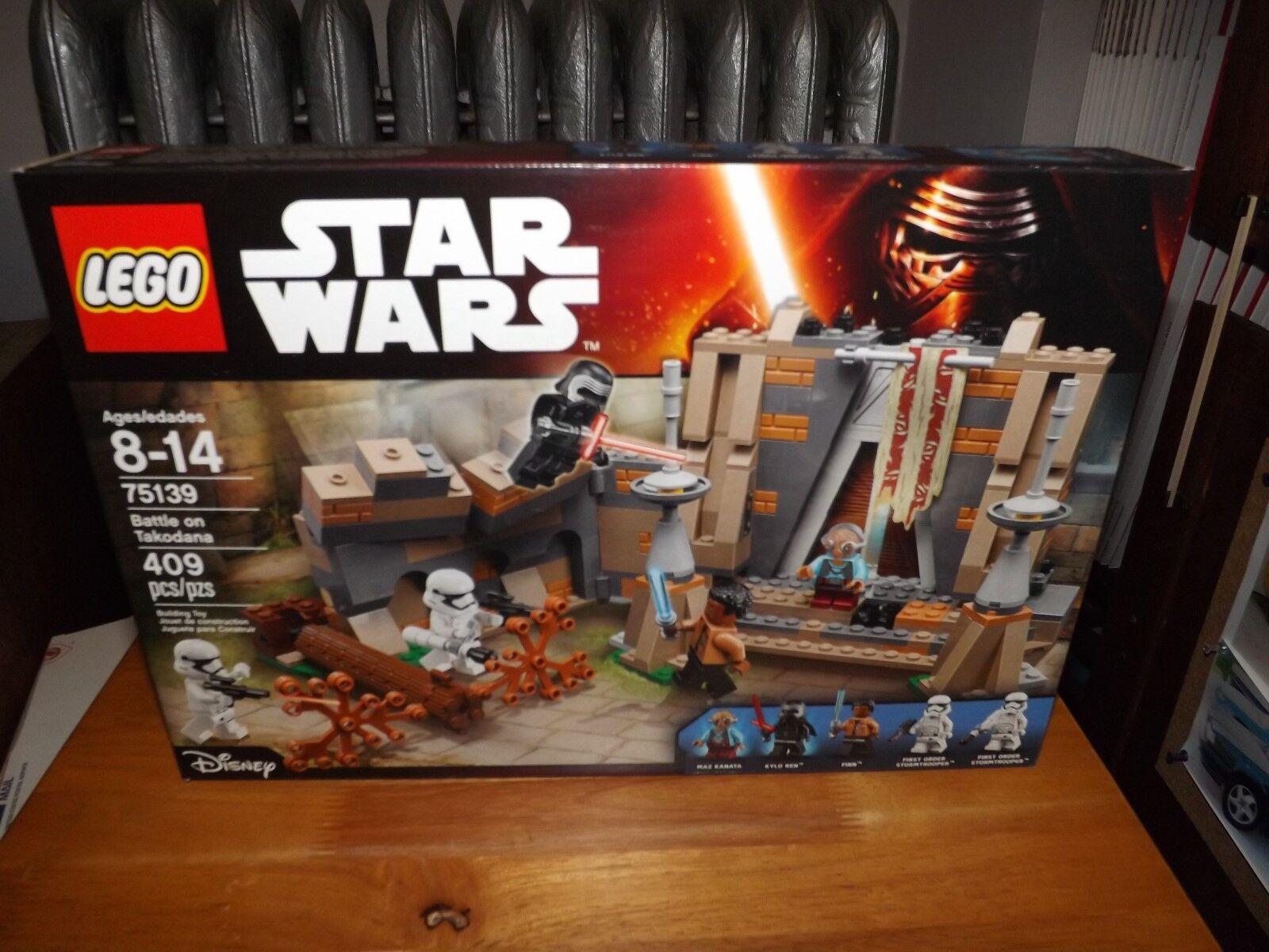 LEGO, STAR WARS, BATTLE ON TAKODANA, KIT  75139, 409 PIECES, NEW IN BOX, 2016