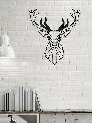 Deer Metal Wall Decor Geometric Animal Wall Art Black Deer Decorative Wall Panel Ebay