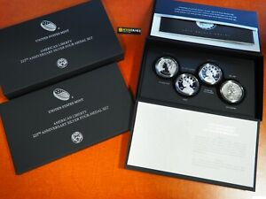 2017-AMERICAN-LIBERTY-PROOF-SILVER-MEDAL-4-COIN-SET-225TH-ANNIVERSARY-W-P-S-D