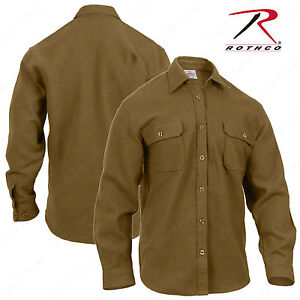 33d11812241 Rothco Heavy Weight Flannel Shirt - Coyote Brown Long Sleeve Button ...