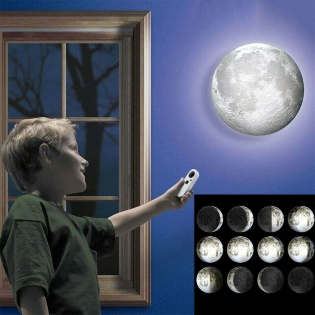 Healing Moon Led Wall Hanging Night Light Lamp White Romantic Remote Control For Sale Online Ebay