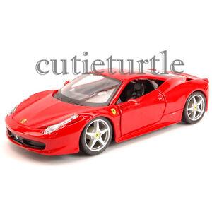 Bburago Ferrari Race Amp Play Ferrari 458 Italia 1 24 Diecast Model Car 26053 Red Ebay