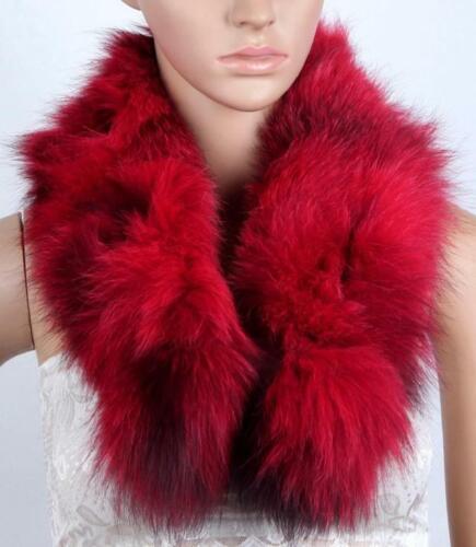 Women/'s 100/% Genuine Real Fox Fur Collar Scarf Winter keep warm Scarves Wraps