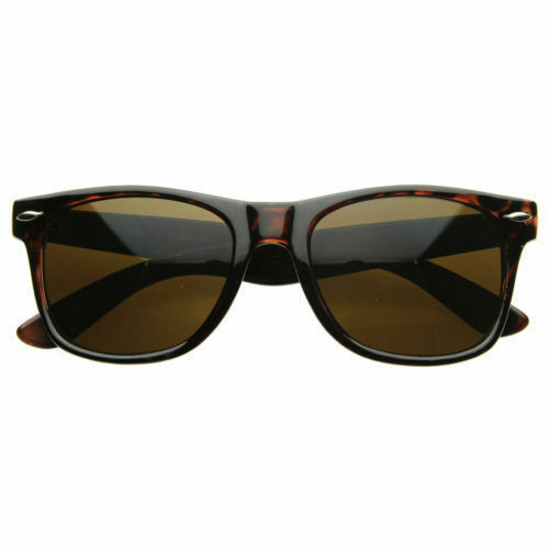 Marrón Caparazón De Tortuga Gafas de Sol UV 400 Hombre//Mujer Estilo Clásico agravio Gafas de sol