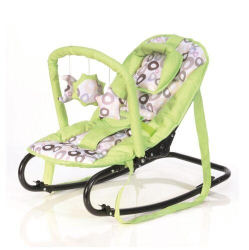 Baby Plus Wippe Bella green circle Spielbügel Babywippe grün Kreise grau Sterne