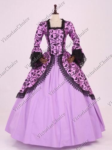 Masquerade Ball Clothing: Masks, Gowns, Tuxedos   Renaissance Princess Gothic Lavender Brocade Fantasy Dress Reenactment Gown 143 $155.00 AT vintagedancer.com