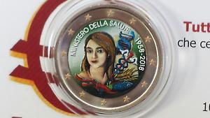 2-euro-2018-Italia-color-farbe-couleur-cor-italie-italien-italy-Salute-II-type