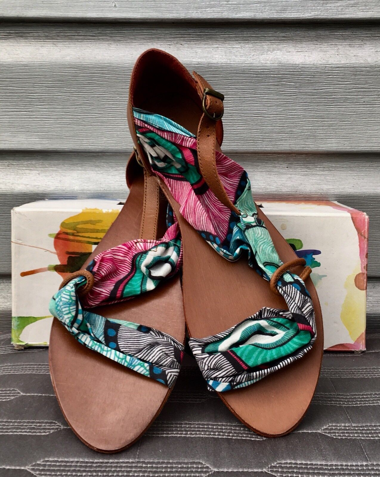 DESIGUALE Sussy  Tropical Print Strappy Sandals SOLD  prezzi all'ingrosso