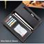 thumbnail 22 - Men Women Black Leather Phone Wallet Clutch Purse Card Cash Coin Photo ID Holder