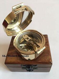 Brunton-Pocket-Transit-Compass-Brass-Antique-Vintage-Nautical-2-5-034-Steampunk