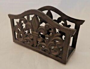 Cast-iron-letter-rack-Rustic-ornate-style-Freestanding-Letter-holder-UK-SELLER