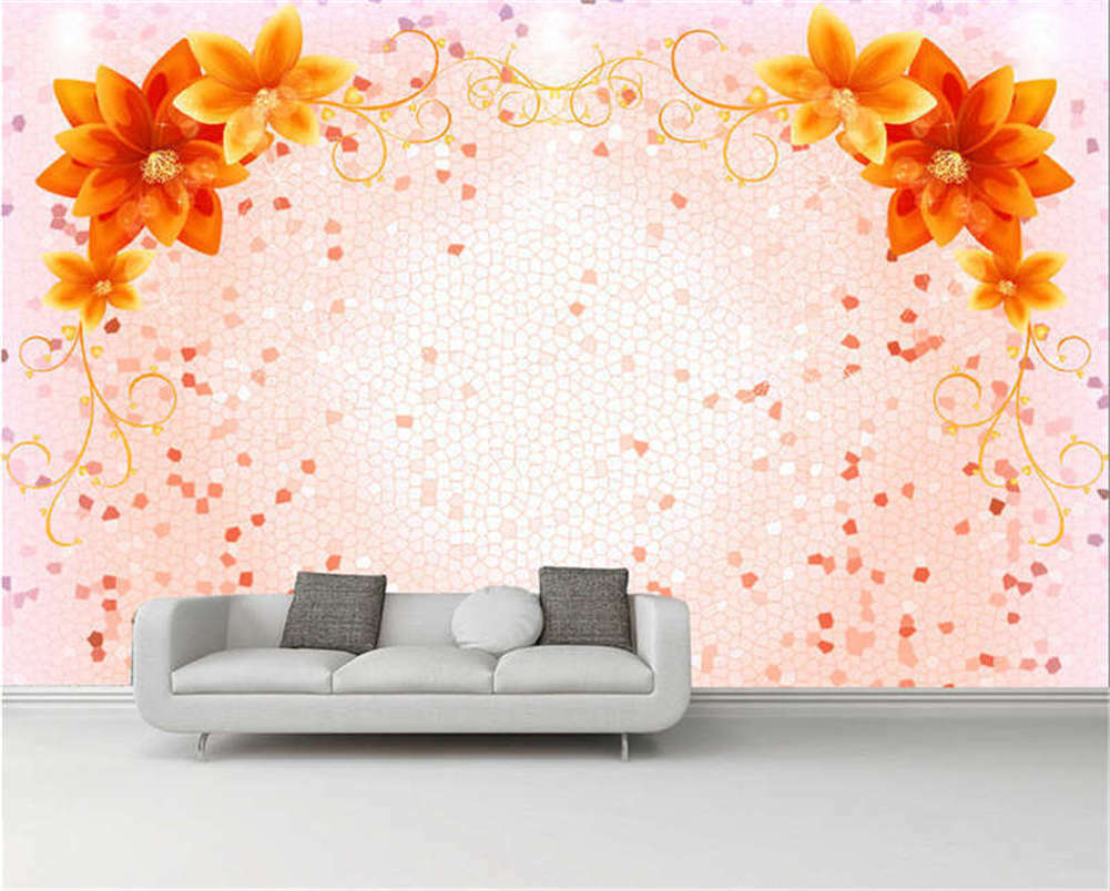 Ginger Gelb Flowers Full Wall Mural Photo Wallpaper Printing 3D Decor Kid Home