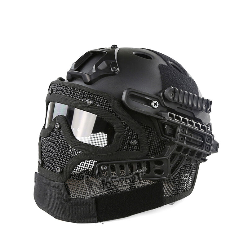 Tactical Military Combat Fast Helmet with Full Face Predective Mask  and Goggles  free shipping on all orders